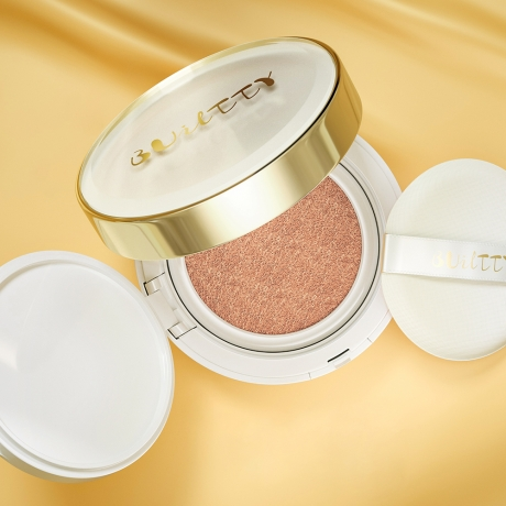 Builtty Whitening CC Cushion Waterproof Makeup Foundation with Sunblock SPF 30